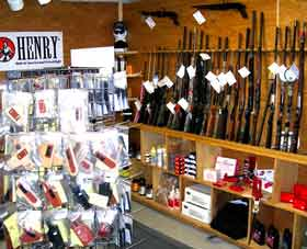 Sherwin Shooting Sports retail area